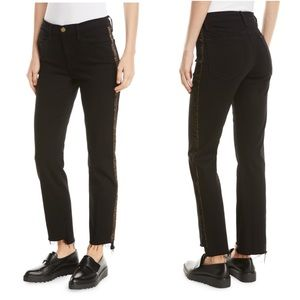 FRAME Denim Le High Straight Jeans with Ve…